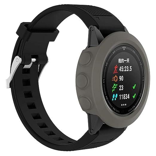 Funda/Protector de Pantalla Silicon Slim para el Reloj Garmin Fenix 5 GPS Holatee: Amazon.es: Relojes