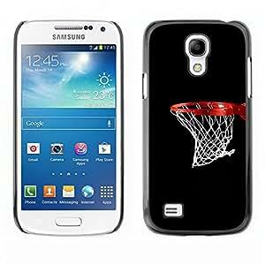 Caucho caso de Shell duro de la cubierta de accesorios de protección BY RAYDREAMMM - Samsung Galaxy S4 Mini i9190 - Baloncesto neto del aro