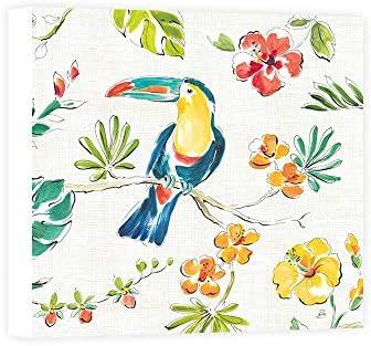 Impresión sobre Lienzo Wall Art Brissonnet Daphne Tropical Oasis V White: Amazon.es: Hogar