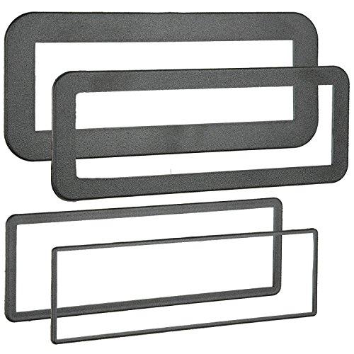 Universal Ring Din Trim (Metra 89-30-0900 Din Trim Rings, 4 Pack)