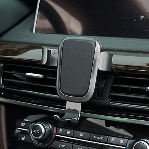 Phone Holder for BMW X5,Adjustable Air Vent Phone Holder BMW,Dashboard Cell Phone Holder for BMW X5 2017 2018,Phone Mount for iPhone 8 iPhone X,Wireless Charging Smartphone 5.5~6 Inch