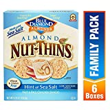Blue Diamond Almond Nut Thins Cracker Crisps, Hint of Sea Salt, 4.25 Ounce (Pack of 6) Larger Image