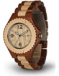 Womens Wooden Watch WINNIE - Wrist Watch made of Hackberry and Maple Wood - Nature, Fashion, Lifestyle