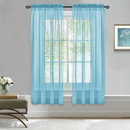 Nicetown Window Treatment Curtain Turquoise