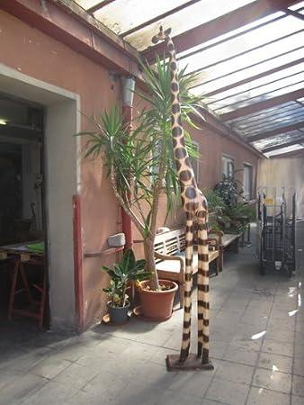 3 meter lebensgroße giraffe holzgiraffe holz fair trade giraffen ... - Küche 3 Meter