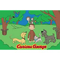 Fun Rugs Curious George George and Friends Juvenile Accent Rug, 39-Inch by 58-Inch