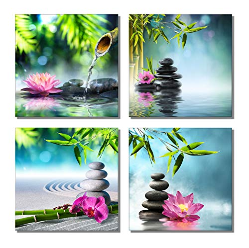 Contemporary Spa - 789Art - Bamboo Zen Canvas Wall Art Spa Artwork for Walls Contemporary Home Decorations for Living Room Office Bedroom Bathroom Modern Decor(12