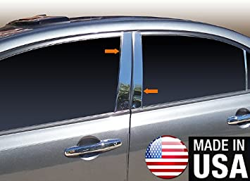 Amazon Com Made In Usa Compatible With 2006 2011 Honda Civic 4 Pc Stainless Steel Chrome Pillar Post Trim Automotive
