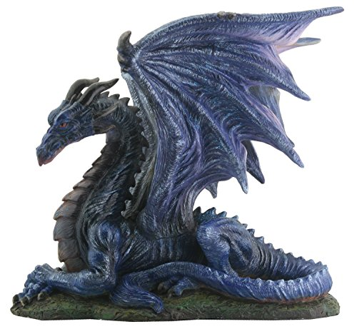 Midnight Dragon Figurine Display (Collectible Resin Figurine)