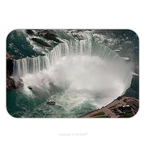 Flannel Microfiber Non-slip Rubber Backing Soft Absorbent Doormat Mat Rug Carpet Niagara Falls 1454626 for - Ford Falls Niagara