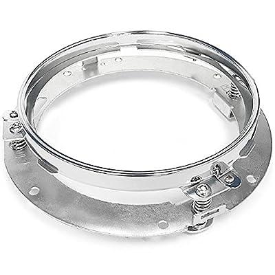 """Krator Chrome 7"""" LED Headlight Mounting Ring Trim Bracket for Harley Davidson Street Glide FLHX 2006-2013"""