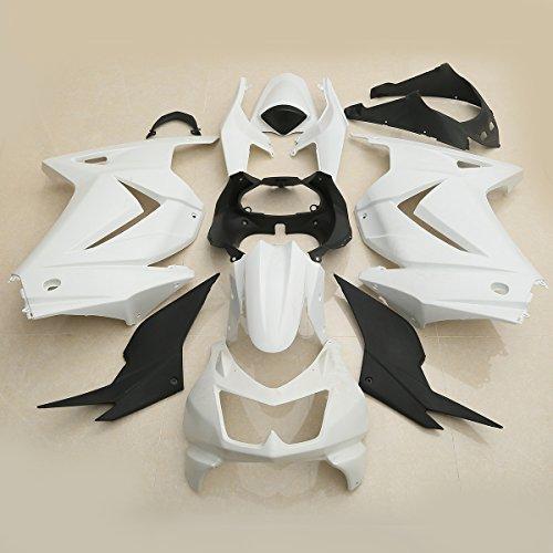 XMT-MOTO Fairing Bodywork Kit For KAWASAKI Ninja 250R EX250 2008 2009 2010 2011 2012(Unpainted white,1 Set)