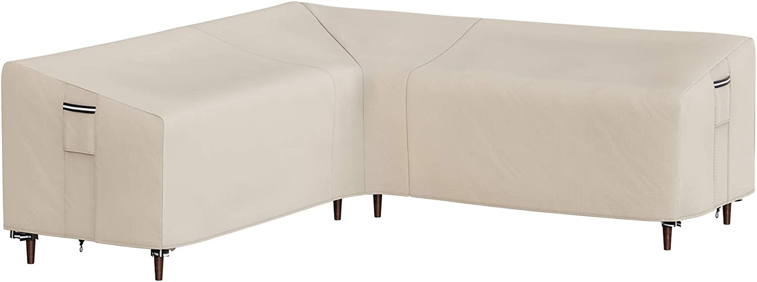 SONGMICS Outdoor Sectional Cover, V-Shaped Sofa Cover, Waterproof Outdoor Furniture Cover, 102