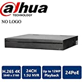 Dahua NVR5424-24P-4KS2 24 Channel 1.5U 24PoE 4K&H.265 Pro Network Video Recorder (NO LOGO Original Housing Local Support)