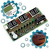 ICStation 6Bits Digital Clock DIY Electronic Assemble Soldering Kit AT89C2051 FR-4 PCB Board Solder Tool