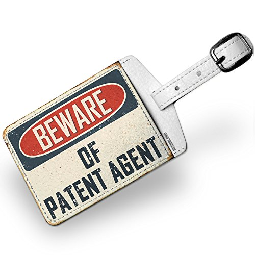 Luggage Tag Beware Of Patent Agent Vintage Funny Sign - - Luggage Tag Patent