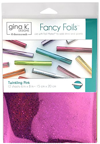Gina K. Designs for Therm O Web 18035 Fancy Foils, 6 x 8 Sheets, Twinkling Pink