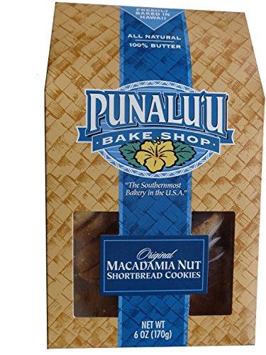 - Punalu'u Bake Shop's Original Macadamia Nut Shortbread Cookies, All Natural, 100% Butter, Freshly Baked in Hawaii, 6 Ounce Package