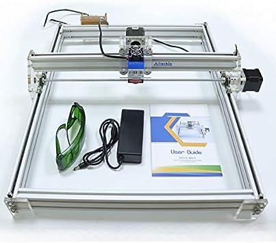 DIY CNC Laser Engraver Kits Wood Carving Engraving Cutting Machine Desktop Printer Logo Picture Marking 40x50cm,2 Axis 2500MW