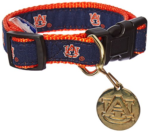 Auburn Tigers Nylon Pet Collar - Sporty K9 NCAA Auburn Tigers Dog Collar, Small
