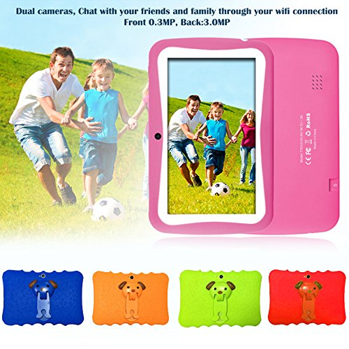 7'' Kids Tablet PC, Android 4.4 4GB ROM 512MB RAM Tablet Dual Camera WiFi USB Phablet Silicone Case by XINSC (Image #4)
