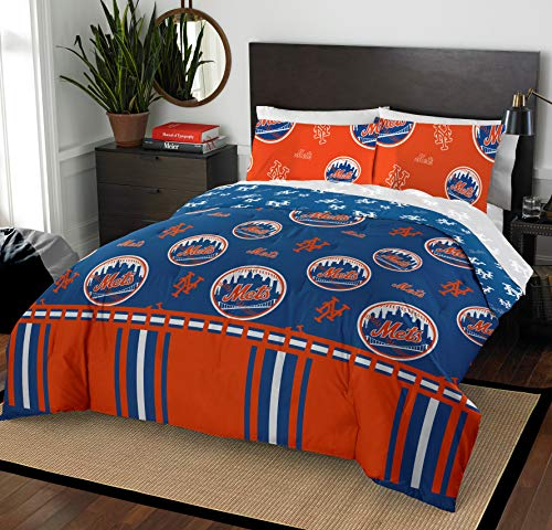 The Northwest Company MLB New York Mets Queen Bed in a Bag Complete Bedding Set #216850718