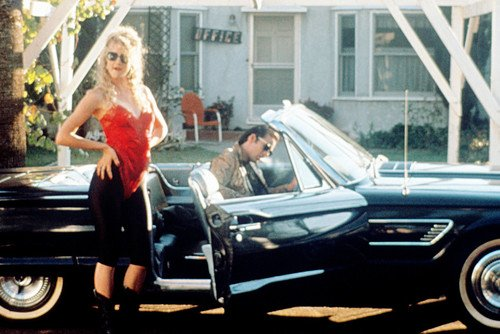- Nicolas Cage in Wild at Heart classic 1965 Ford Thunderbird car convertible Laura Dern 24x36 Poster