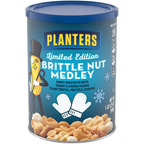 Planters Brittle Nut Medley (1.3 lbs Canister) (Chocolate With Peanut Brittle)