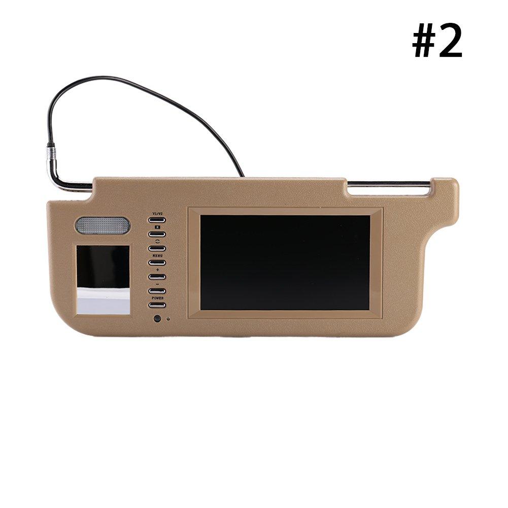 Sedeta Left Monitors for Backup camera Touch 7'' Car Sun visor DVD/TV Screen Monitor Camera kits Night Vision with LED CMOS