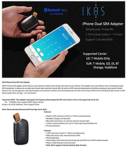 EDTara IKOS Two Active SIM Cards Adapter for Phone Dual