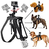 GreatCool GoPro Dog Harness Mount Pet Hound Fetch Back Chest Strap 360 Degrees Rotate GoPro Accessories Mount With Buckle Screw for GoPro Fusion Hero Session 6 5 4 3 2 and Other Action Camera