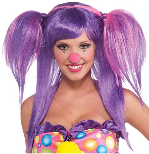 [Forum Novelties Women's Circus Sweetie Costume Wig, Purple/Pink, One Size] (Circus Costume Ideas)