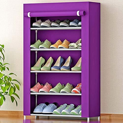 Almacenamiento 8 Nivel Simple El Rack Zapatero 5 4 Zapato F Violeta De zapatero Capas Para 6 Hogar Fácil Varias Instalar 7 Shoe WYqUwvxScY