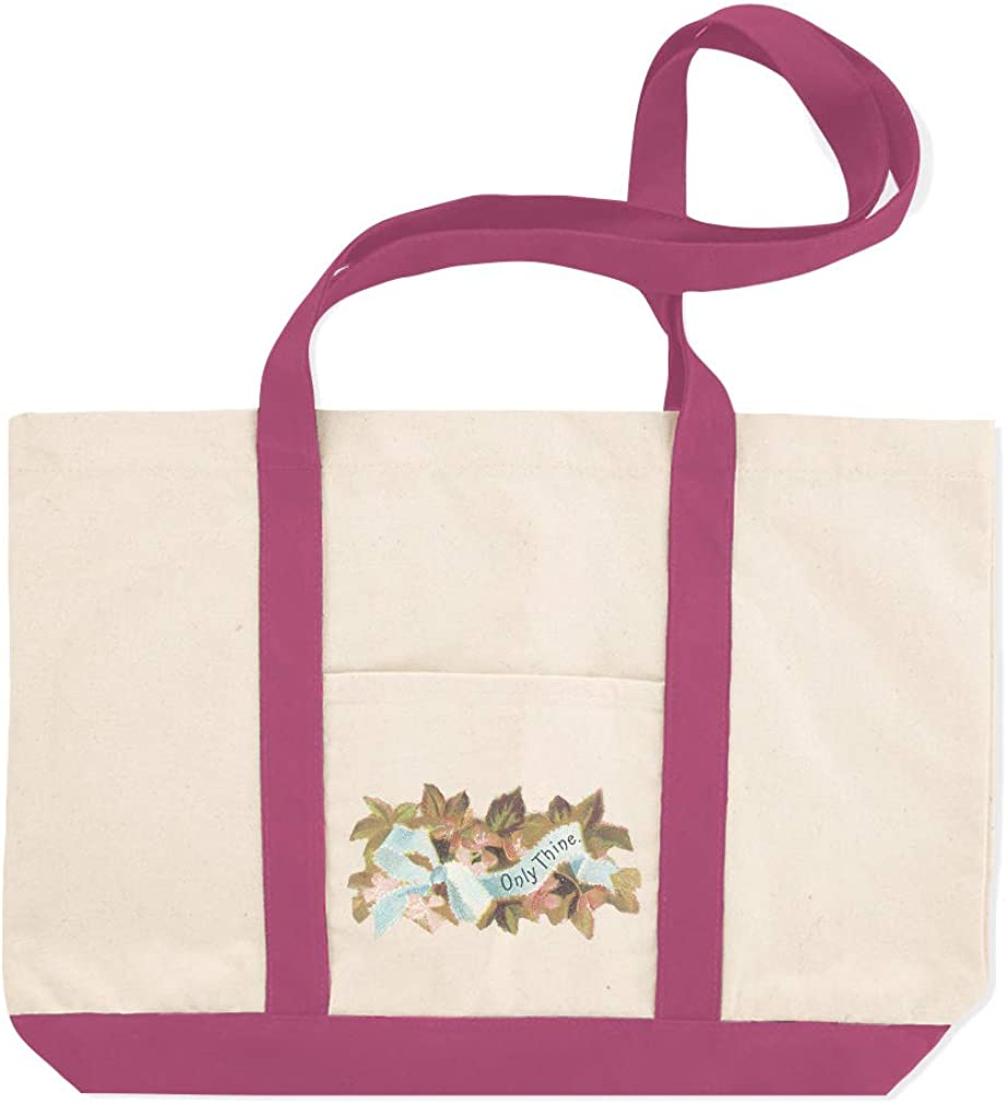 Canvas Shopping Tote Bag Flowers with Only Thine Botanical /& Blossom Beach for Women Flowers Gifts