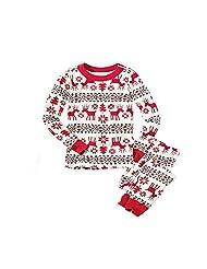 XMAS Adults Family Pajama Set Christmas Snowflake Deer Design Party Sleepwear Gift