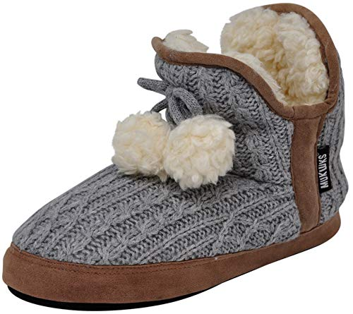 MUK LUKS Women's PENNLEY Slipper (Large / 9-10 B(M) US, Cable Grey)