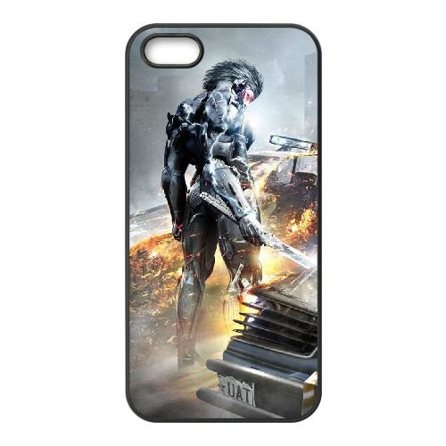 Metal gear O9K97 hausse poster Revengeance U9D2YE coque iPhone 4 4s cellulaire cas de téléphone couvercle coque noire WS5RSX4UH
