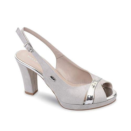 presentando stile distintivo offrire sconti VALLEVERDE Sandalo da Donna Tacco Traforato 45564 Argento ...