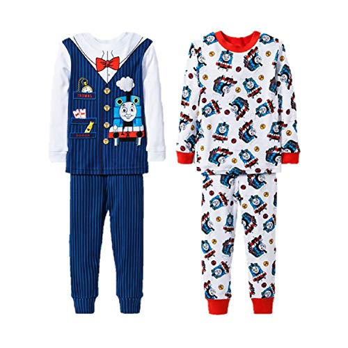 Thomas& Friends Thomas Train Conductor Ps Boys' 4 pc Pajamas Sleepwear (5t) - Train Thomas Conductor