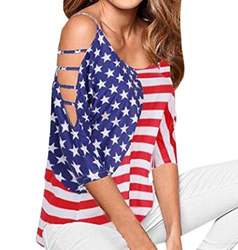 Shirts Col 4 Fashion Haut Automne Femme 3 Printemps Imprime Lache Manches Rond Rouge Chemisiers Tees Casual T Blouses Epaule Shirts Top et Legendaryman Nu wxPvAqTEq7