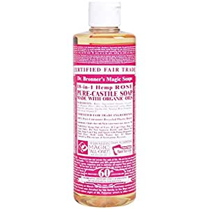 dr bronner 39 s organic pure castile liquid soap rose 16 oz size 16 oz color. Black Bedroom Furniture Sets. Home Design Ideas