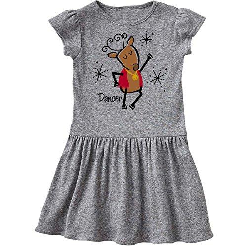 Dancer Reindeer (inktastic Dancer Reindeer Toddler Dress 4T Heather Grey 278a7)
