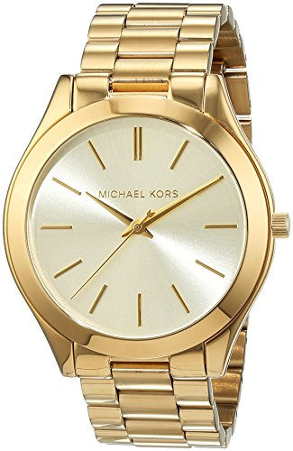 Michael Kors MK3179 – Reloj de cuarzo con correa de acero inoxidable para mujer, color dorado