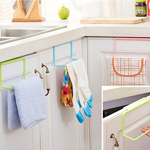 Binmer(TM) Towel Rack Hanging Holder Organizer Bathroom Kitchen Cabinet Cupboard Hanger (White)