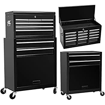Best Choice Products Portable Top Chest Rolling Tool Storage Box ...