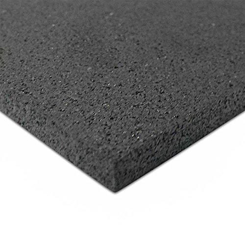 rubber gym flooring 3/16'' x 48'' x 50' by Thermodyn