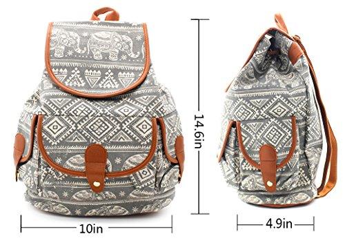 [해외]PickUrStyle 캐주얼 배낭 캔버스 배낭 여행 배낭 여성을위한 패션 스타일 그레이/PickUrStyle Casual Backpack Canvas Backpack Travel Backpack Fashion Style for Girls Women Grey