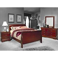 4 Pc Louis Philippe Queen Bedroom Set by Coaster Furniture