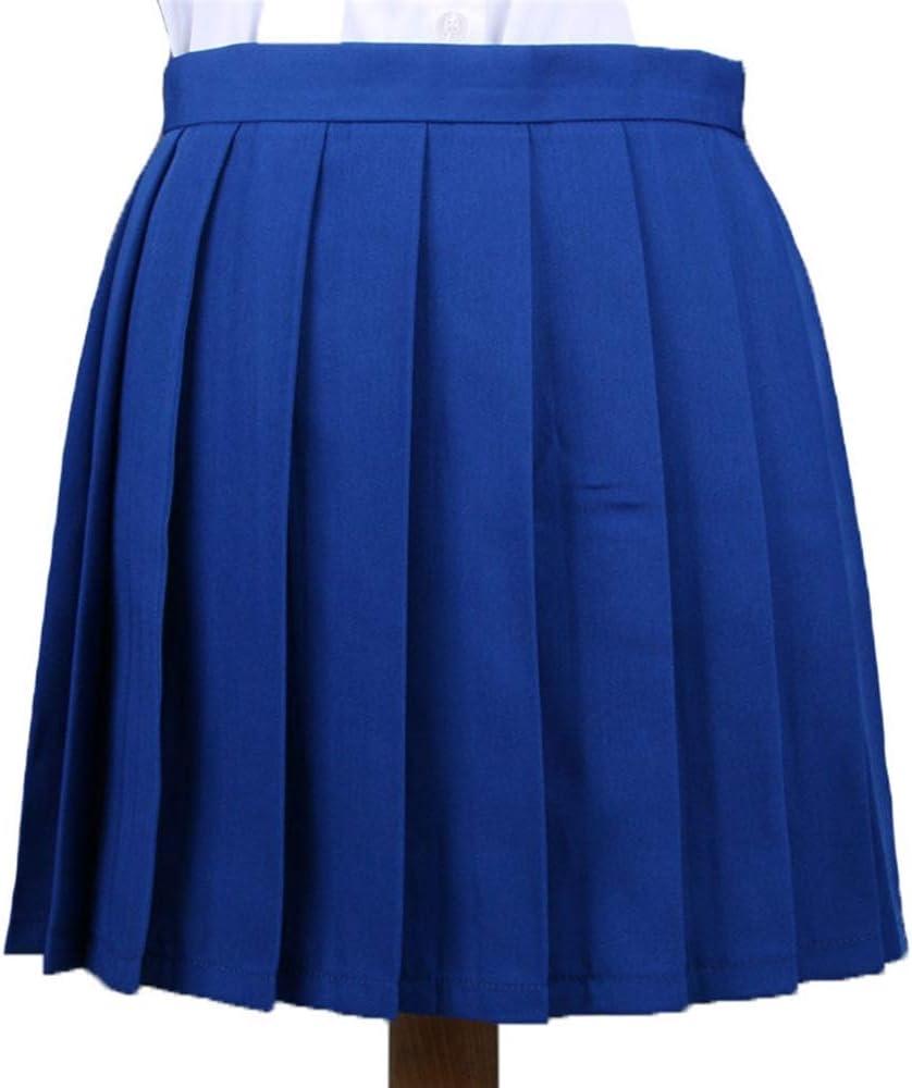 HEHEAB Falda,Las Mujeres Azul Falda Plisada Cosplay Girl Uniforme ...