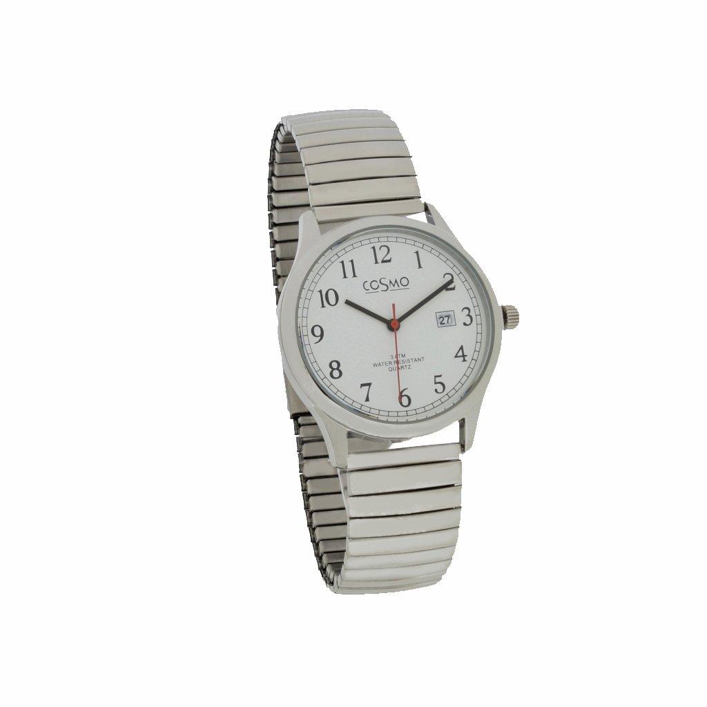 Cosmo 301116 de ZB de Zi de blanco reloj hombre reloj cordón ...